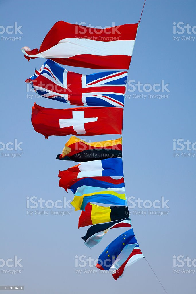 fags of various European countries royalty-free stock photo