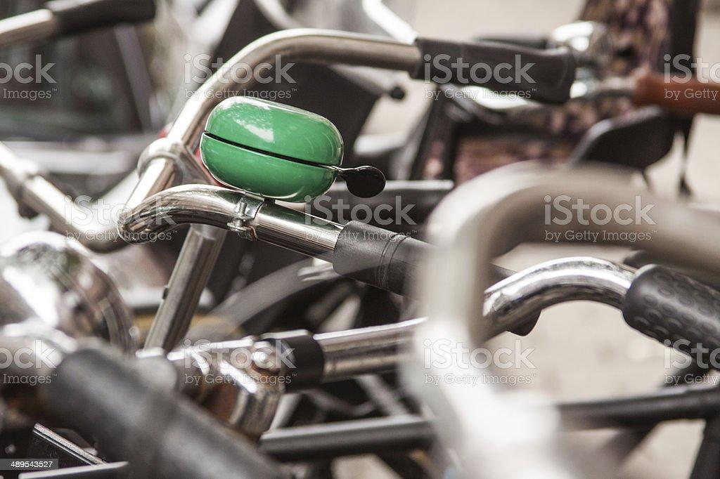 Fahrradklingel stock photo