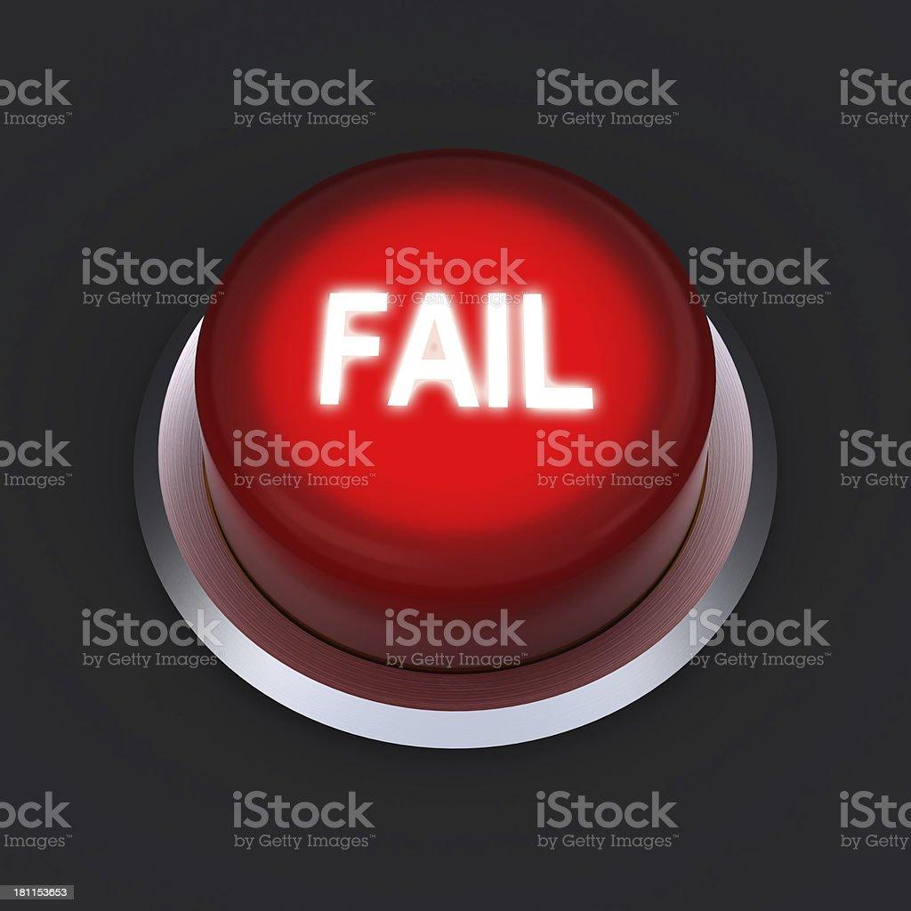 Fail button royalty-free stock photo