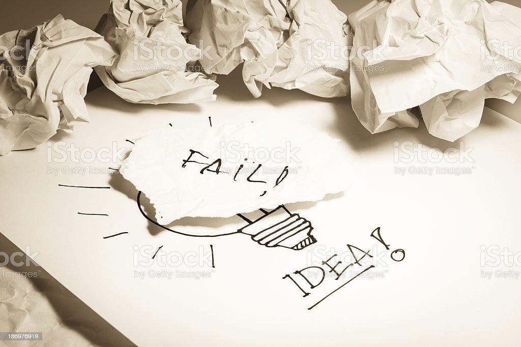 Fail idea concepts royalty-free stock photo