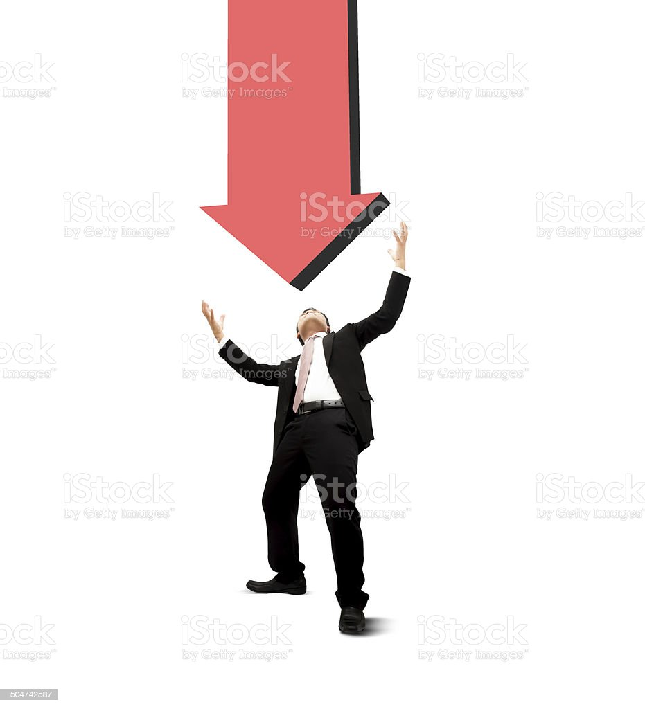 Fail of businessman. stock photo