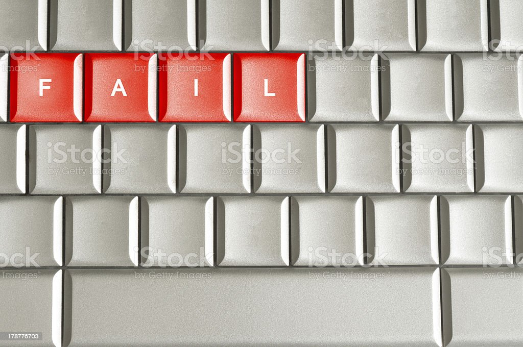Fail word spelled on a keyboard royalty-free stock photo