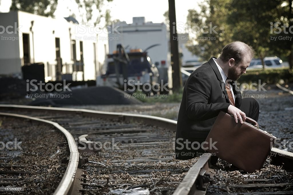 Failed Business Man stock photo