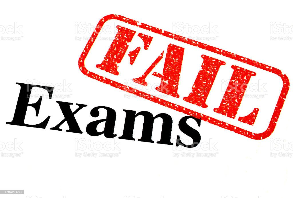Failed Exams stock photo