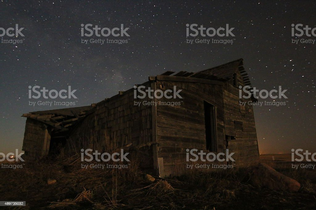 Failed Homestead stock photo