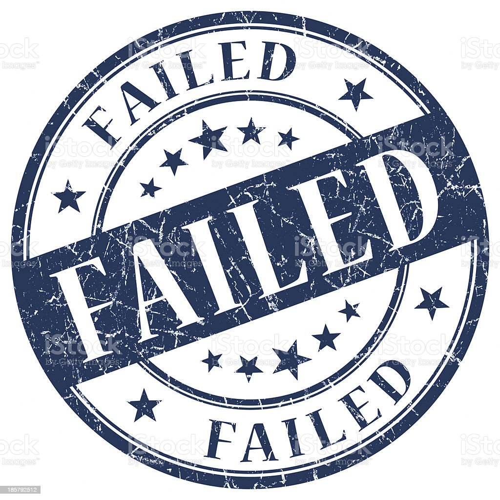 failed round blue stamp royalty-free stock photo