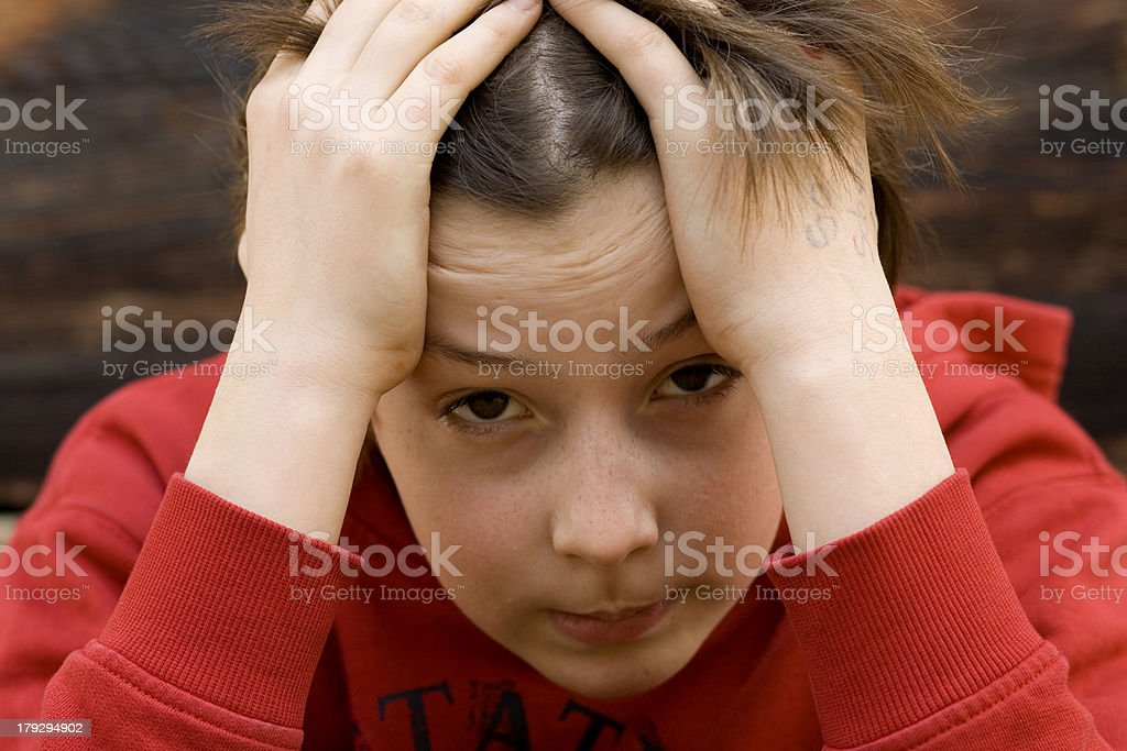 Failed. Teenage boy is frustrated. royalty-free stock photo