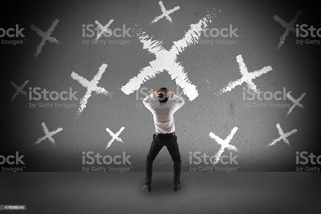 Failure concept stock photo