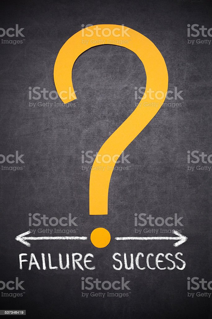 failure or success stock photo