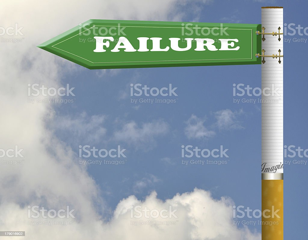 Failure road sign royalty-free stock photo