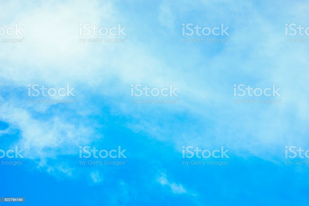 Faint cloud in the sky for background stock photo