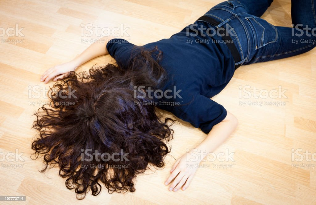 Fainted woman royalty-free stock photo