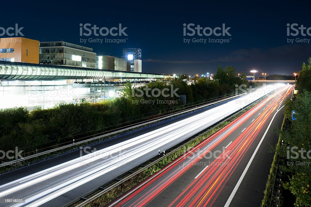 Fair Highway B6 in Hanover at the late evening stock photo