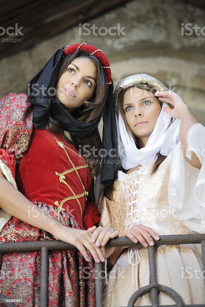 Fair Maiden in Medieval Dresses (XXXL) royalty-free stock photo