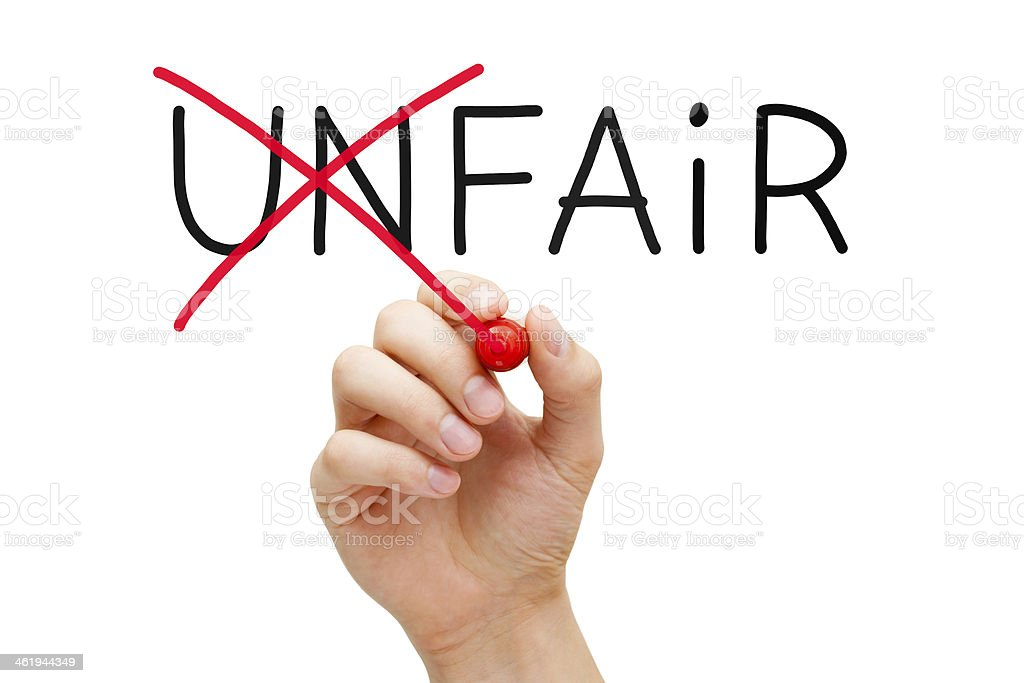 Fair Not Unfair stock photo