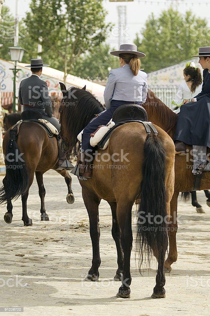 Fair of Seville royalty-free stock photo