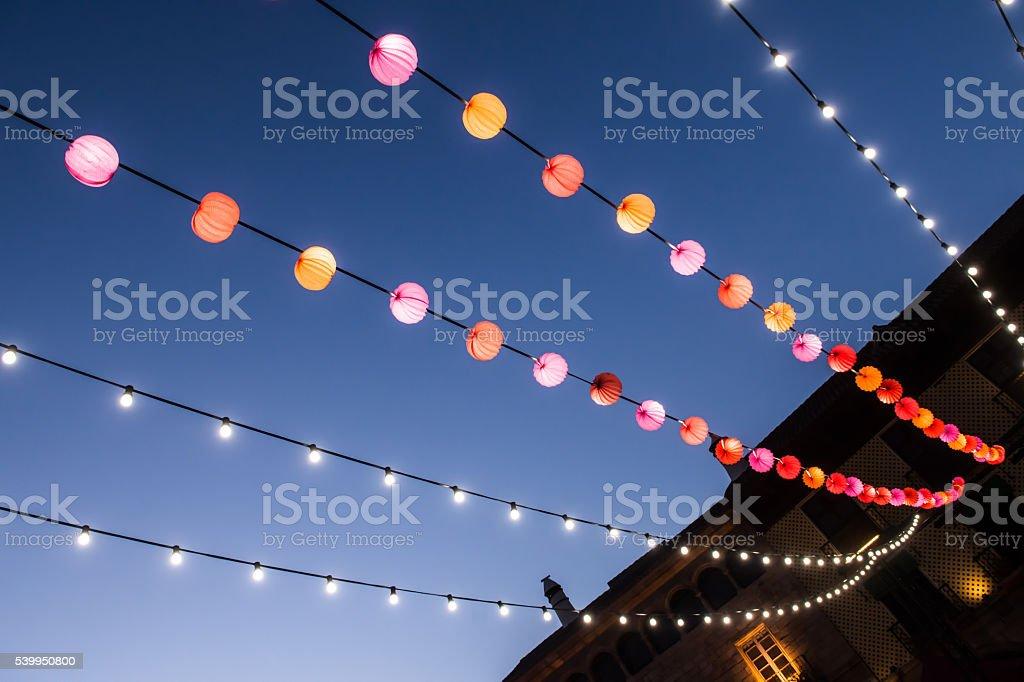 Fair paper lanterns stock photo
