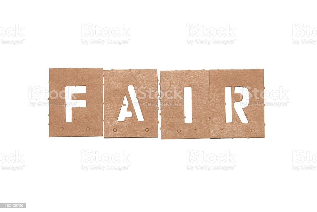 Fair stencil word royalty-free stock photo