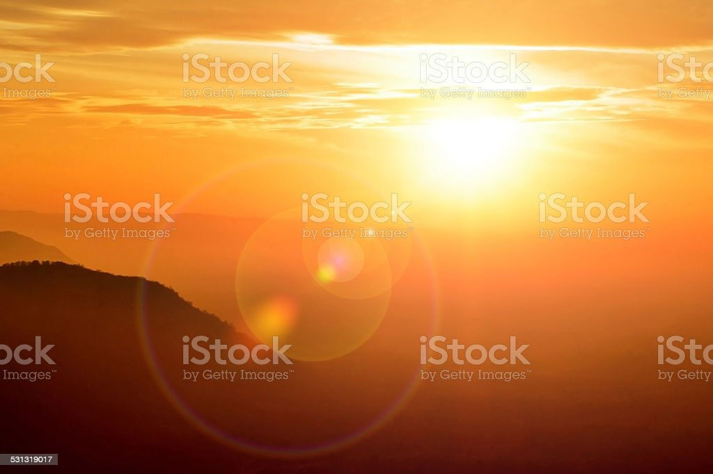 Fair sun light stock photo