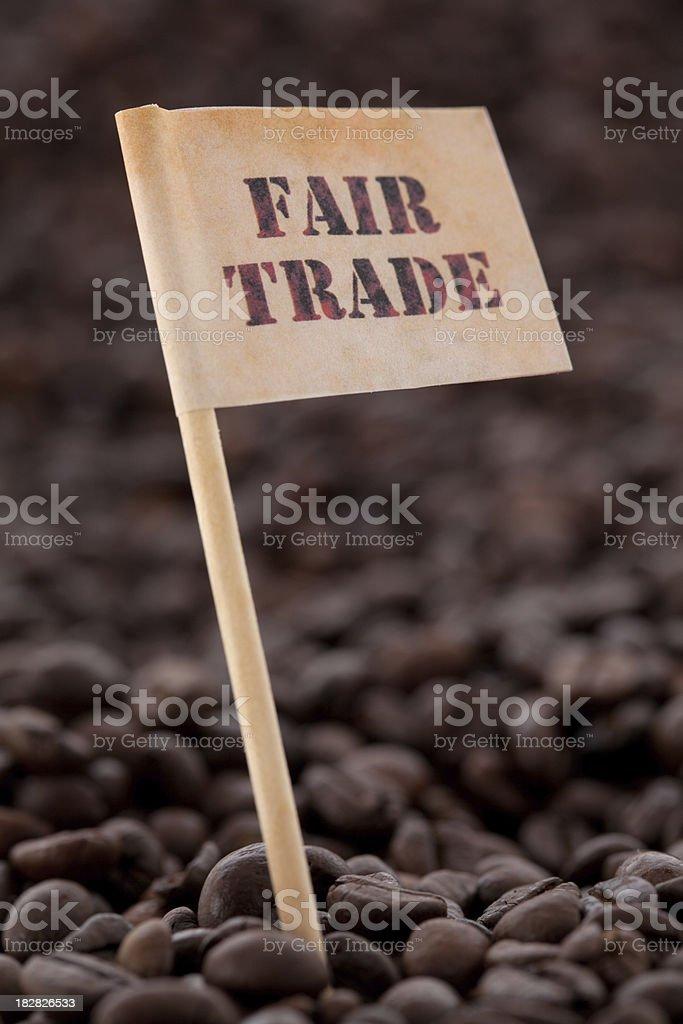 fair trade coffee royalty-free stock photo