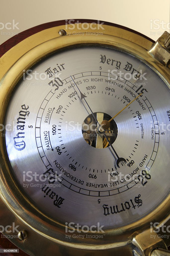 Fair Weather Barometer royalty-free stock photo