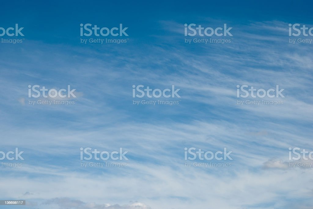 Fair Weather Clouds and Sky royalty-free stock photo