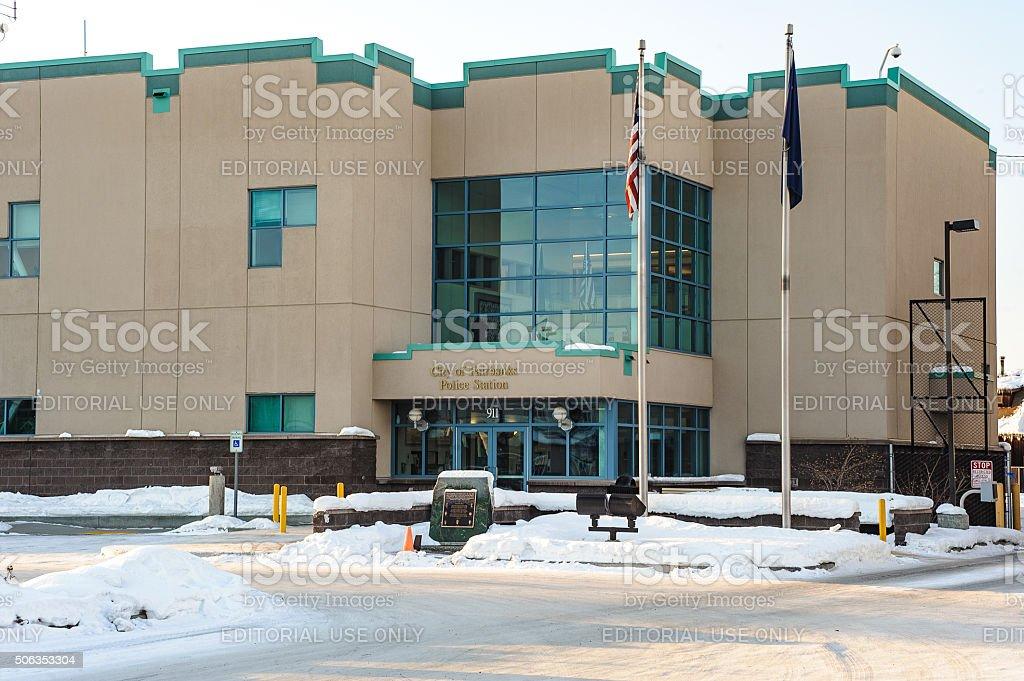 Fairbanks Police Staion stock photo