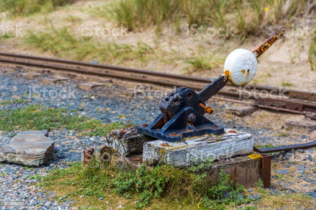 Fairbourne and Barmouth Steam railway stock photo