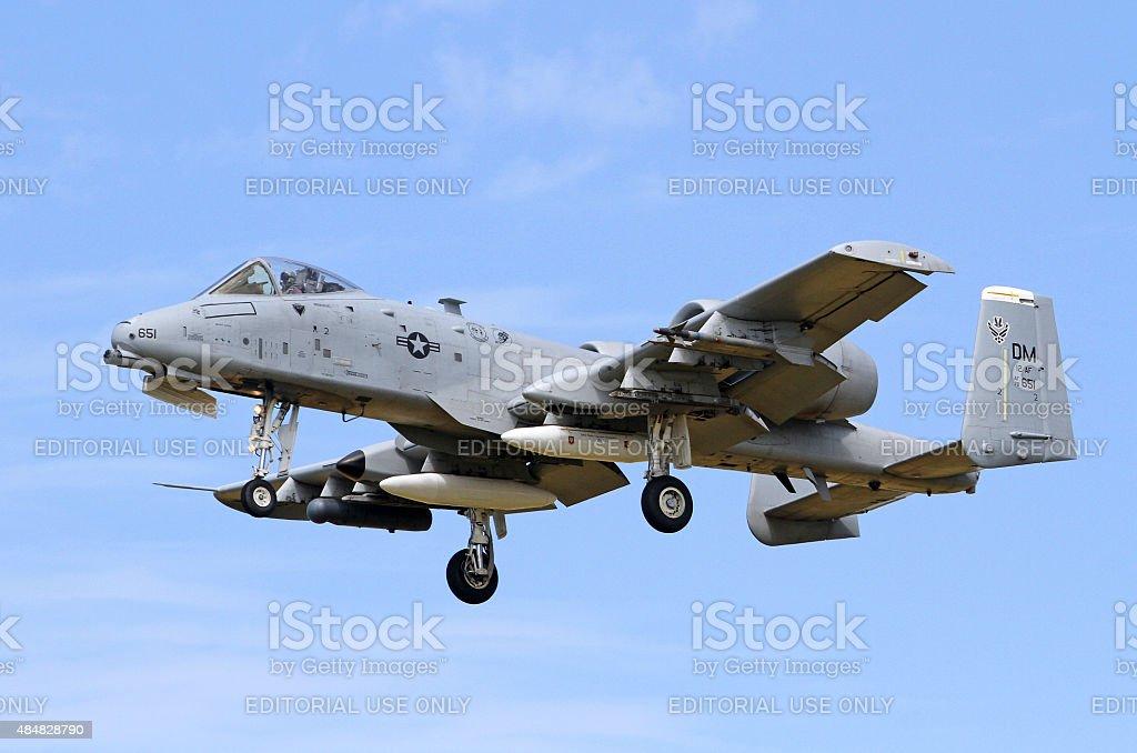 USAF Fairchild A-10C Thunderbolt II stock photo