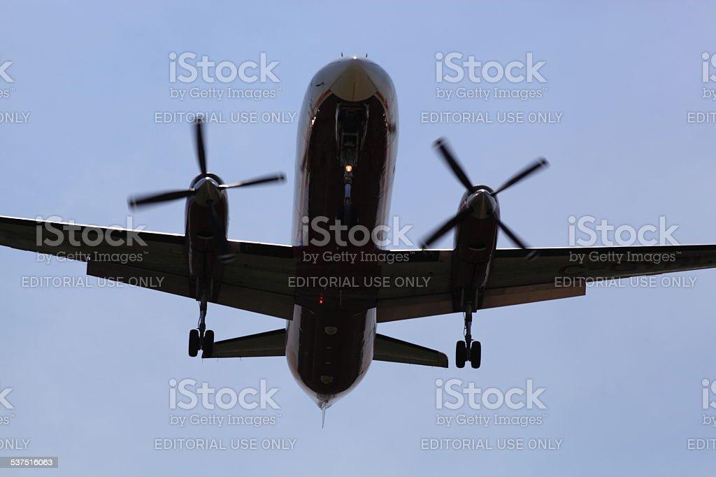 Fairchild Dornier SA.227AC-Metro III, C-GYRL, Bearskin Airlines, landing in Ottawa stock photo