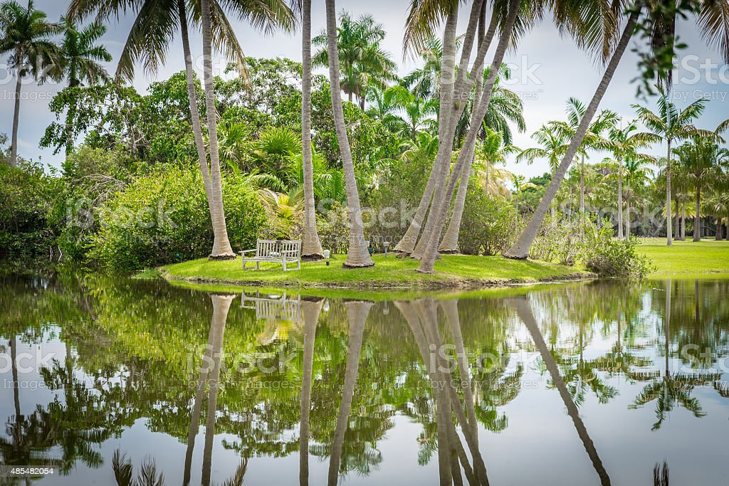 Fairchild tropical botanic garden, Miami, FL, USA stock photo