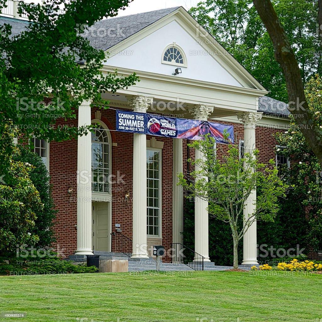 Fairfax City Hall Main Entrance stock photo
