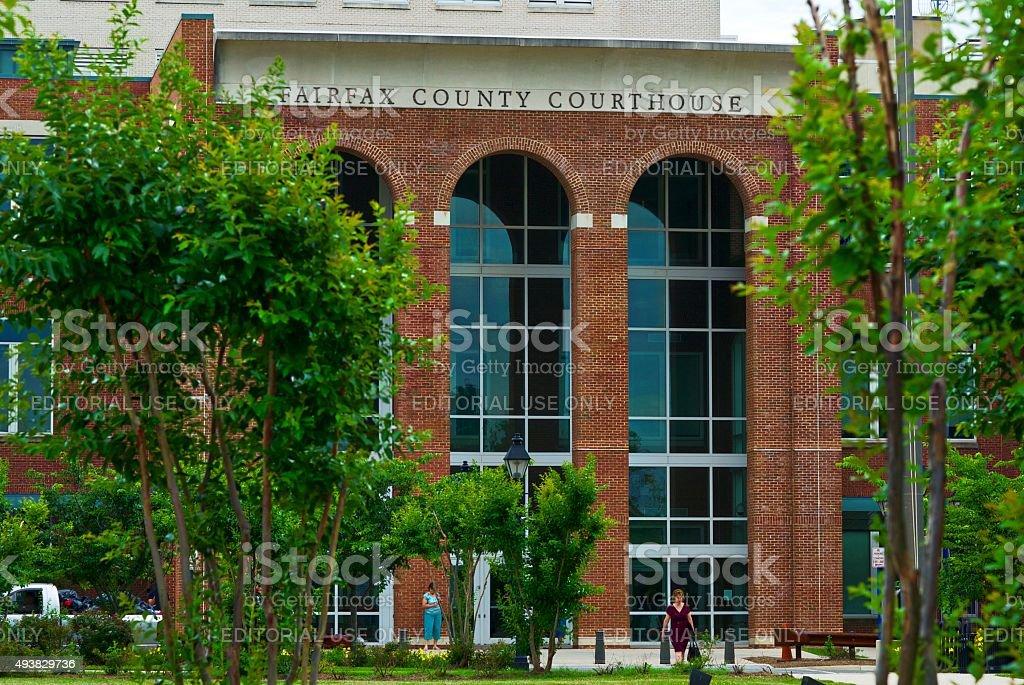 Fairfax County Courthouse stock photo