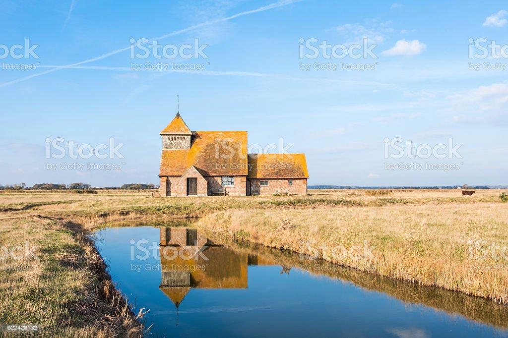 Fairfield Church, Sussex, UK stock photo