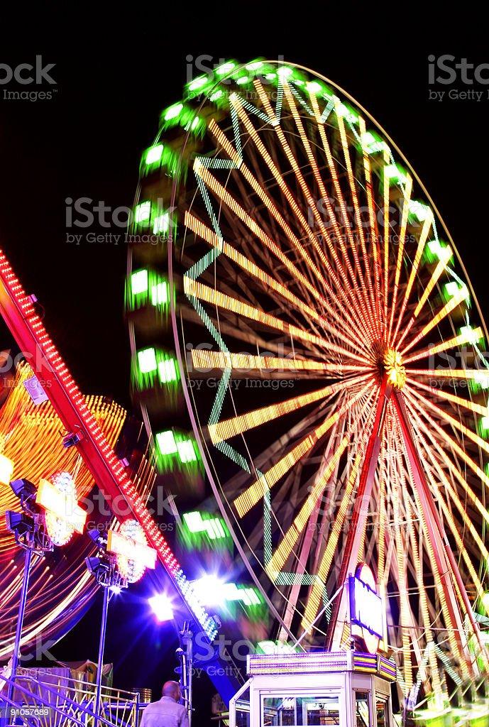 Fairground at Night royalty-free stock photo