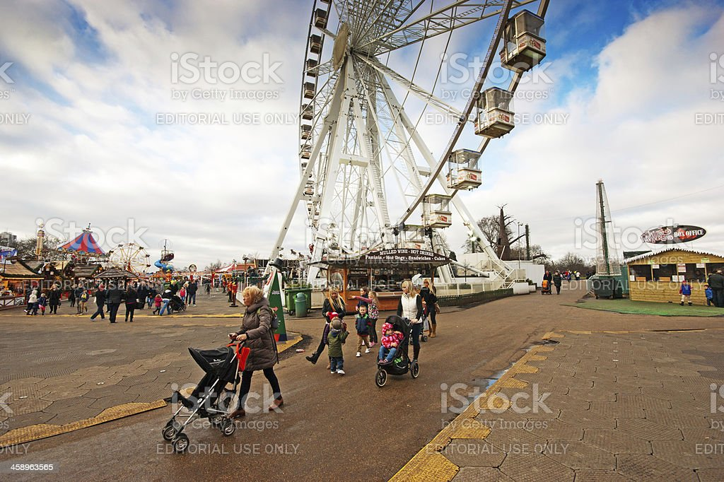 Fairground Big Wheel royalty-free stock photo