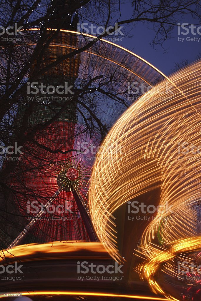 Fairground Blurs royalty-free stock photo