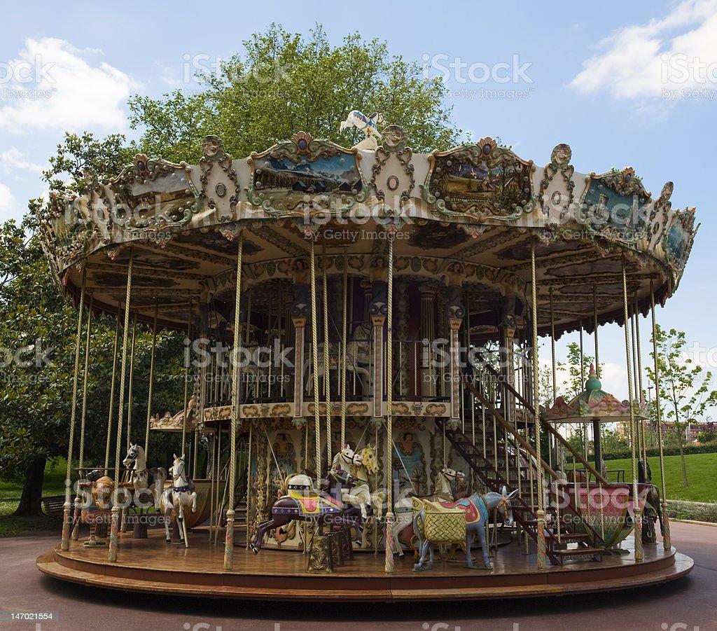 Fairground Carousel royalty-free stock photo