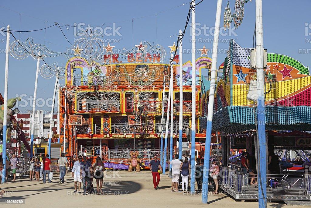 Fairground in Algeciras, Spain royalty-free stock photo