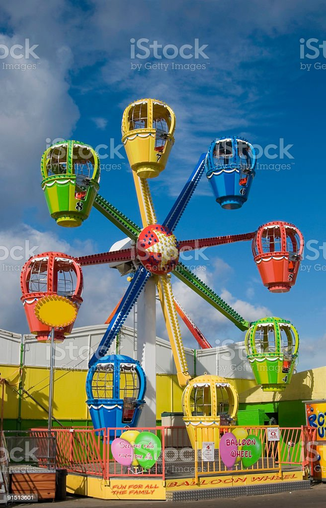 Fairground ride, funfair, amusement park, UK royalty-free stock photo