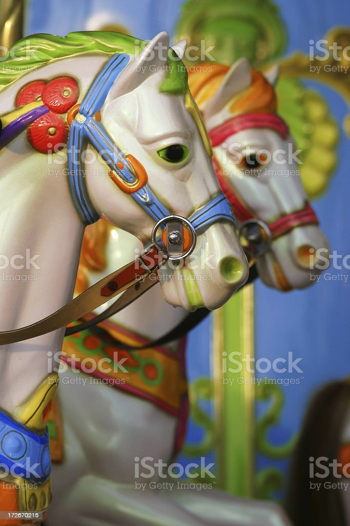 Fairground ride horses royalty-free stock photo