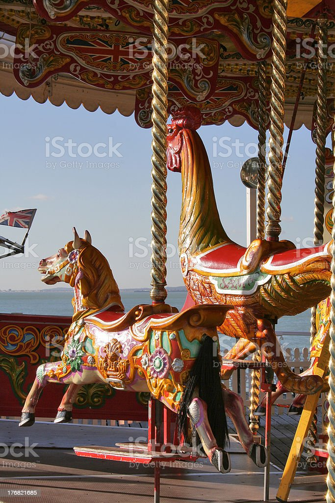 Fairground ride stock photo