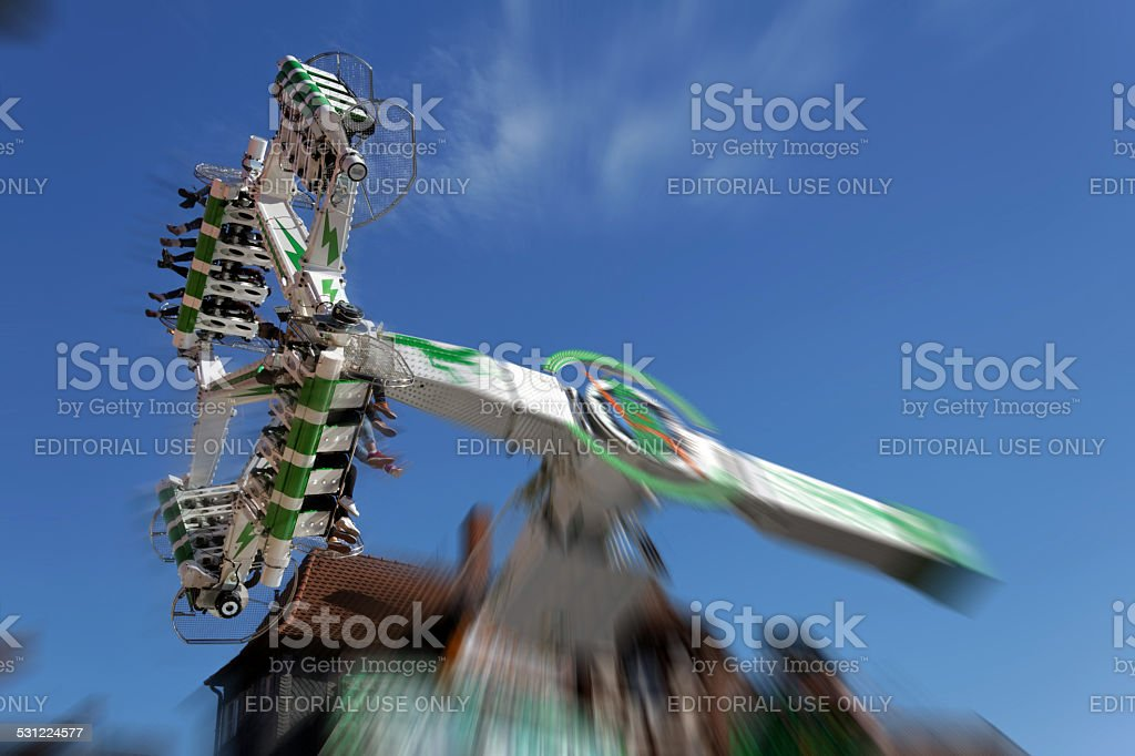 fairground ride stock photo