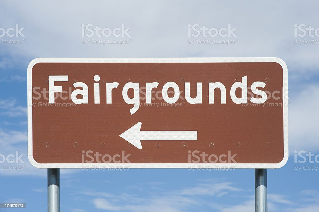 Fairgrounds Street Sign royalty-free stock photo