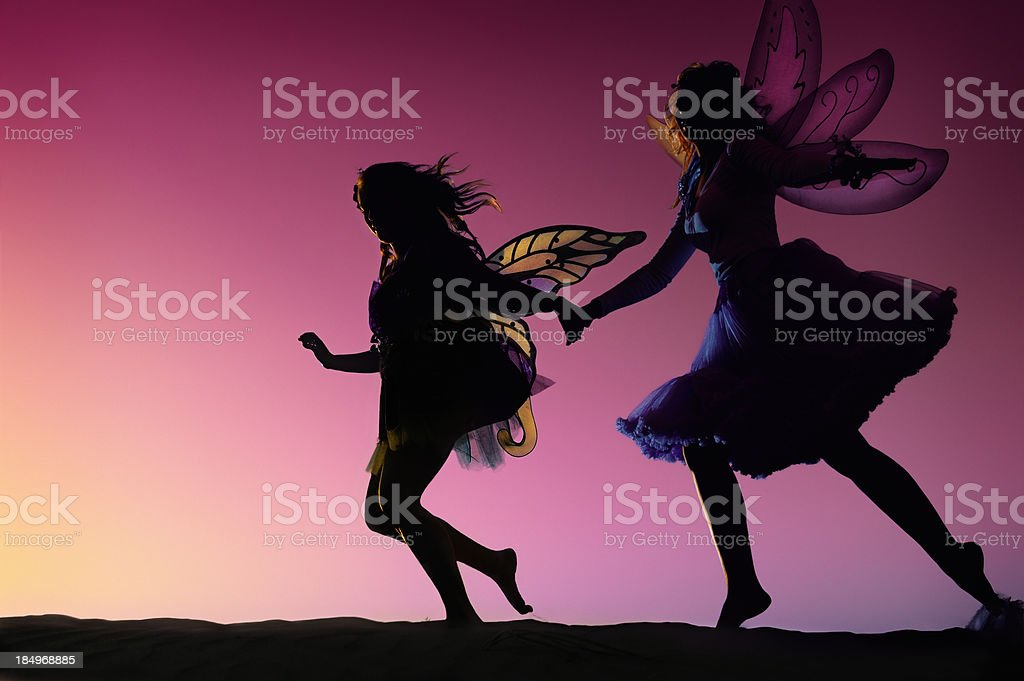 Fairies Dancing In The Evening Light stock photo