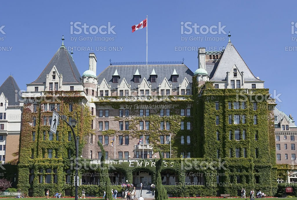 Fairmont Empress Hotel in Victoria, Canada royalty-free stock photo