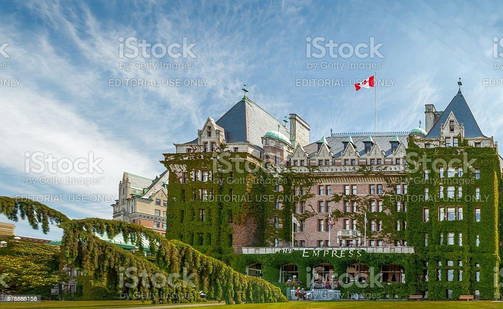 Fairmont Empress Hotel stock photo
