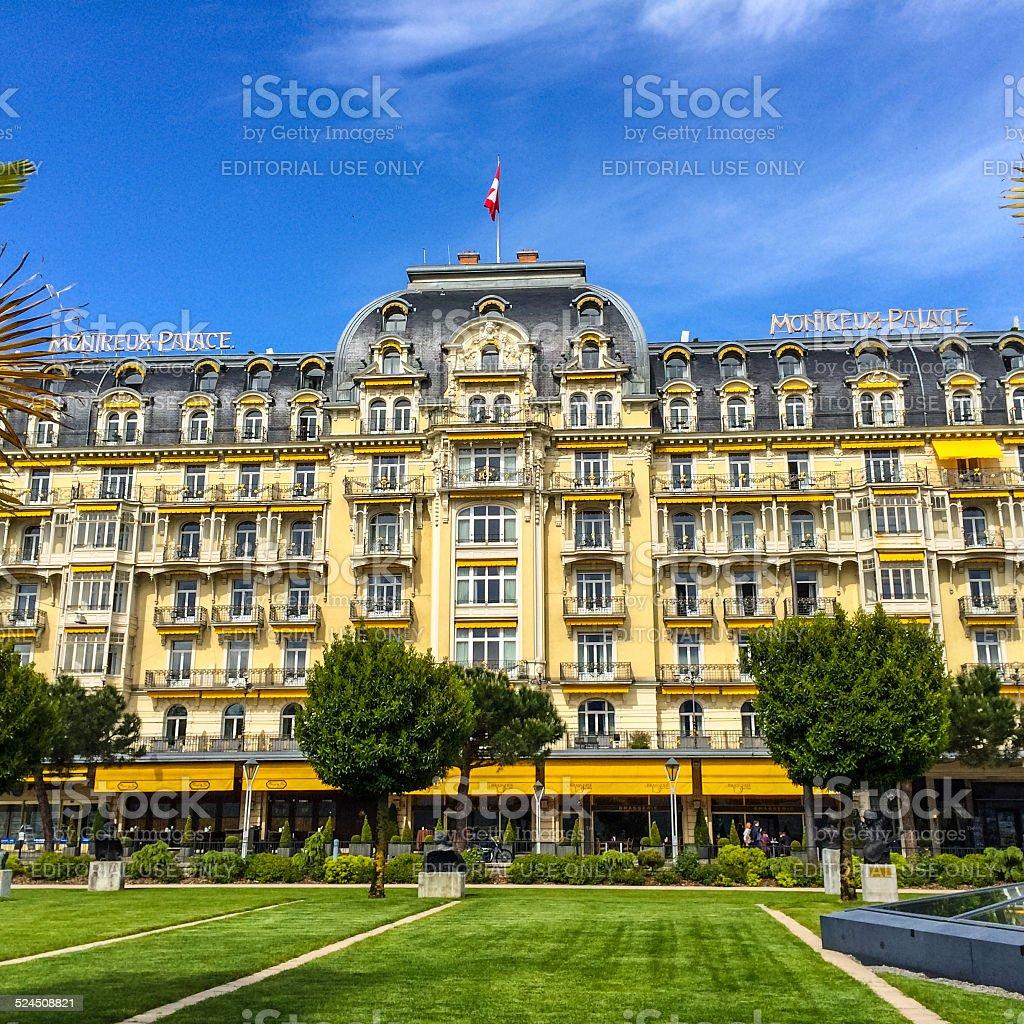 Fairmont Montreux Palace Hotel stock photo