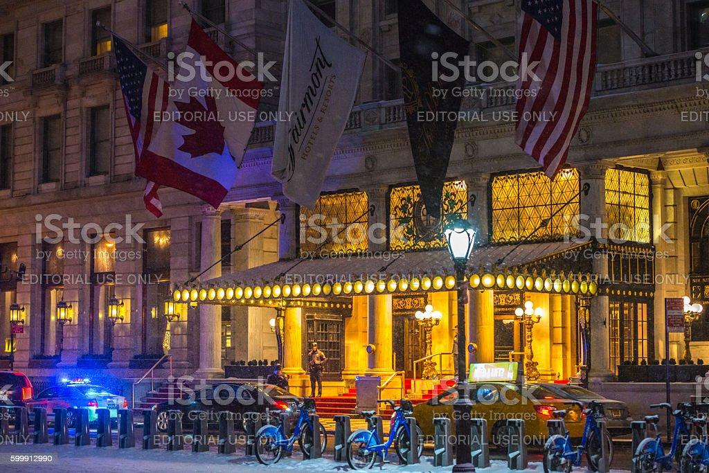 Fairmont The Plaza Hotel, New York, USA stock photo
