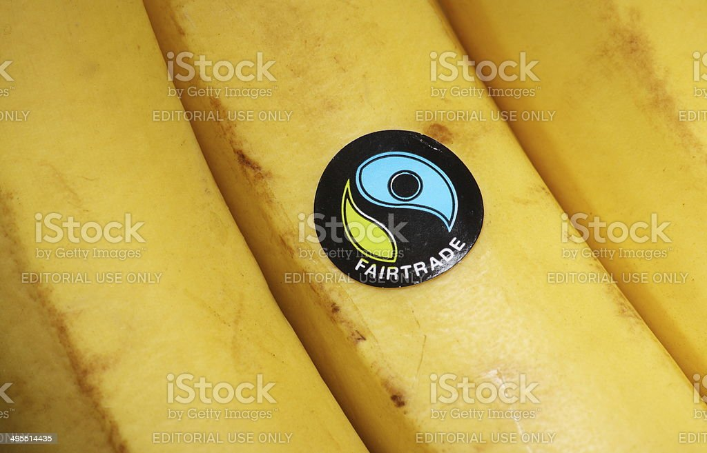 Fairtrade Bananas stock photo